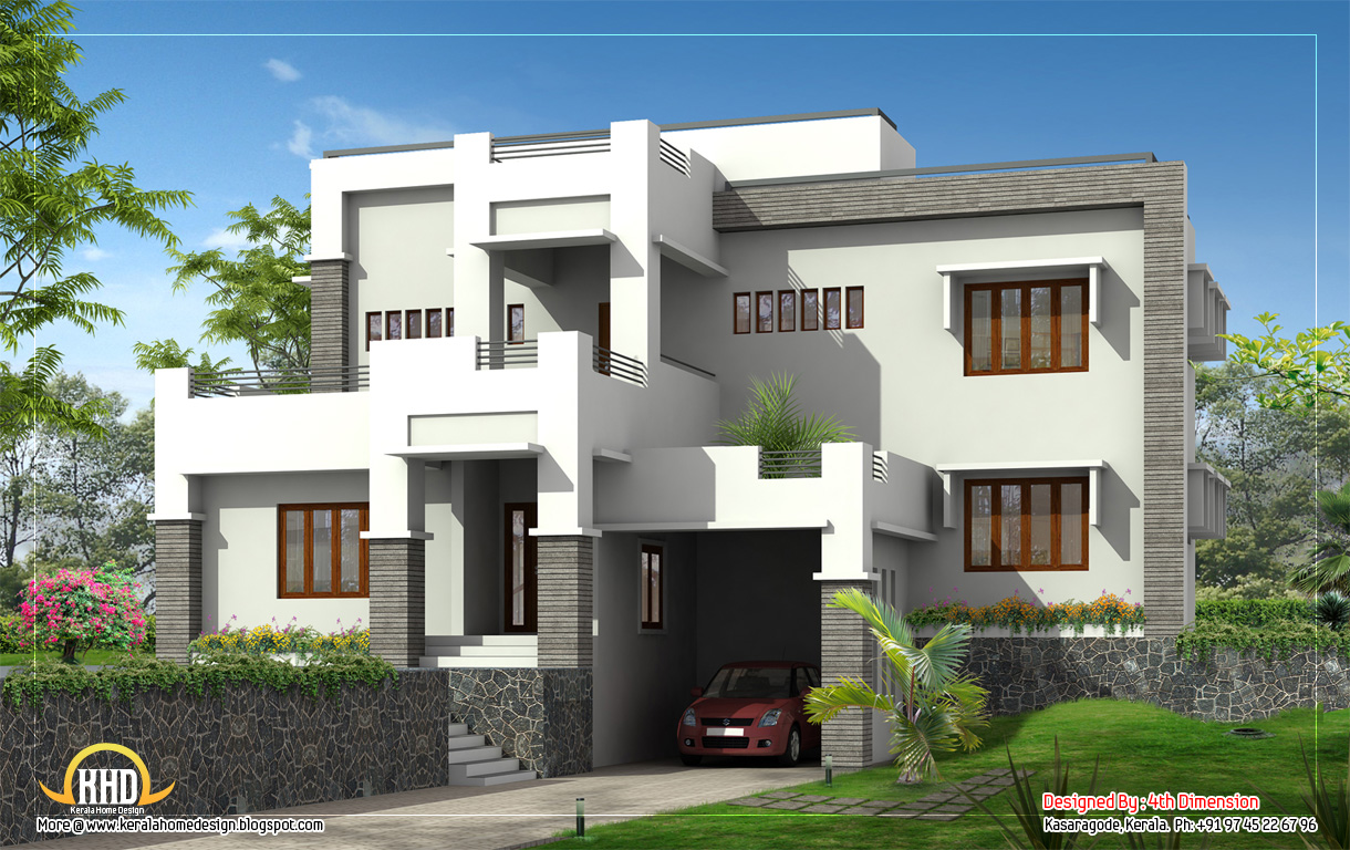 G Modern Home Elevation  Sq Ft  Sq