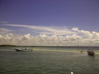 tampak jalur penghubung Pulau Maringkik - Pulau Kambing