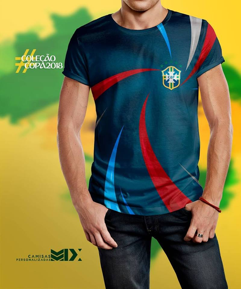 67861af192 Camisas Personalizadas  Camisas Copa da Rússia - Seleção Brasileira