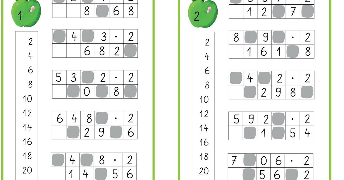 Lernstübchen: Klecksaufgaben zum Multiplizieren