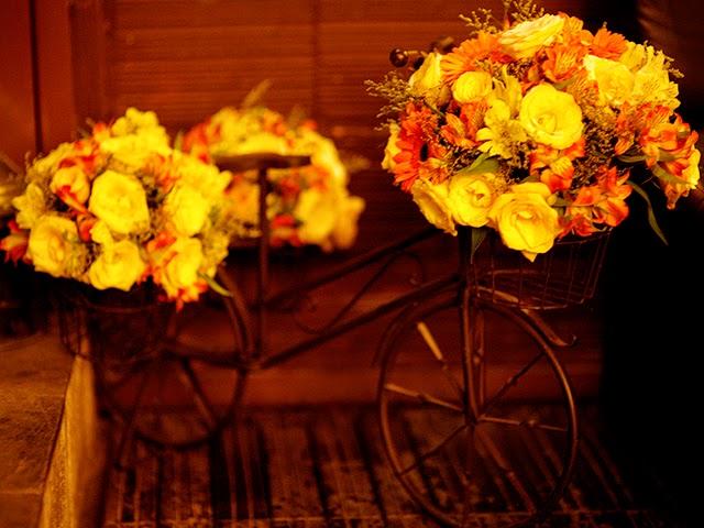 Decoração Bicicleta Jardineira - Mini Wedding / Casamento