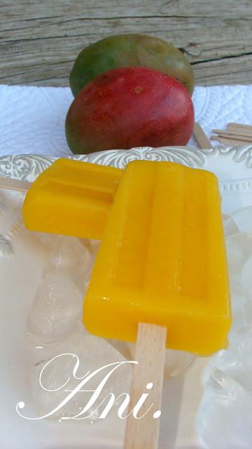 Polos o paletas de mango
