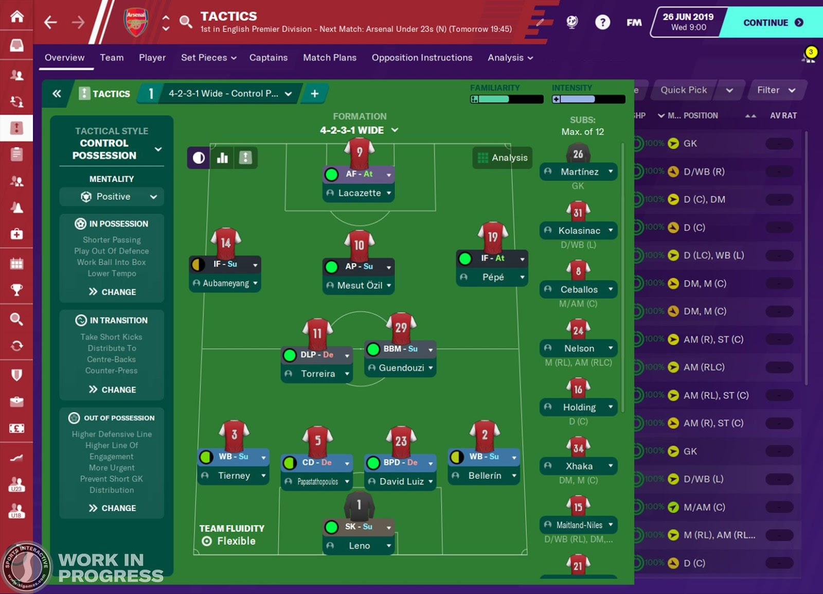 Football Manager 2020 Tactics Screen