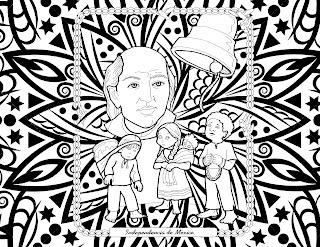 Mandala Independencia de Mexico para niños