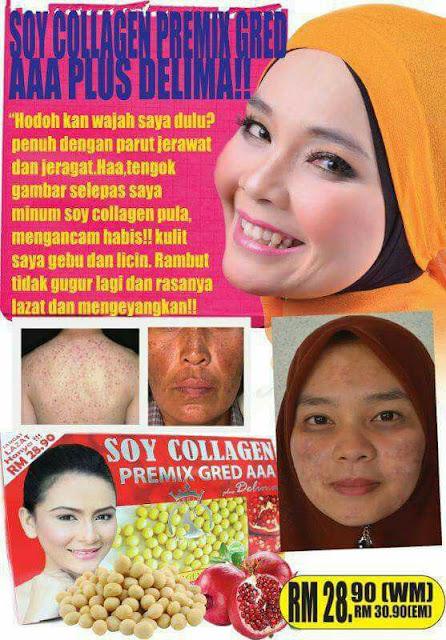 Testimoni Soy Collagen Premix Plus Delima