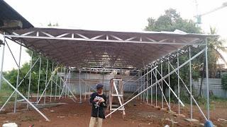 Jasa proyek renovasi pasang atap baja ringan di bogor murah garansi