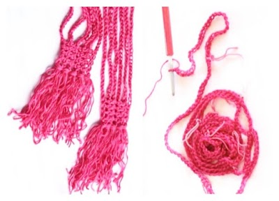 Bufanda Cadenetas con cierres de Crochet