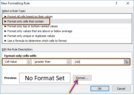 Menggunakan Conditional Formating Cell Value
