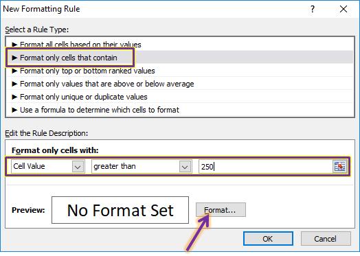 Menggunakan Conditional Formating Cell Value