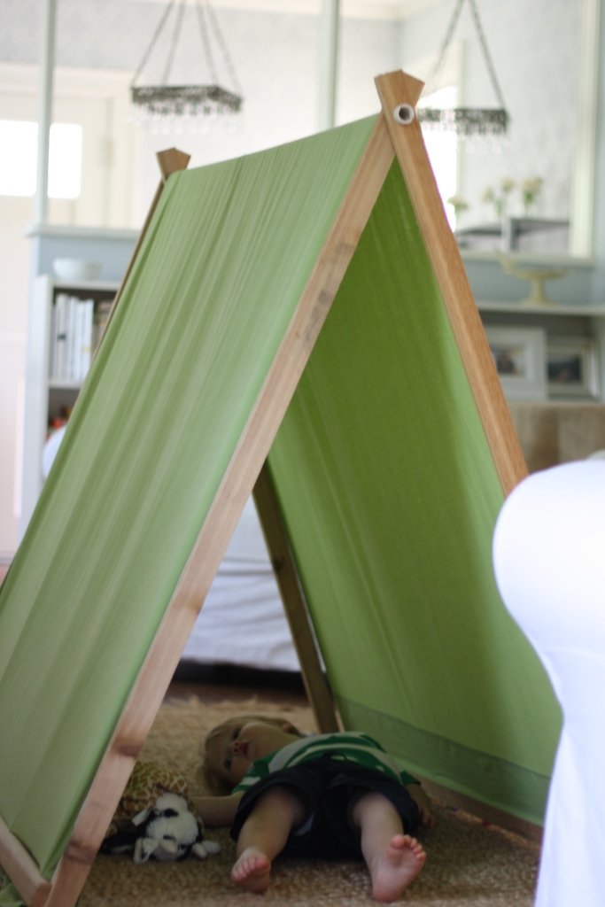 A Barefoot Day: DIY A-Frame Tent For Kids