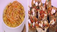 طريقة عمل مكرونة بالجبنة - اكواب التورتيلا باللحم مع نورا السادات في عمايل إيديا  20-1-2017
