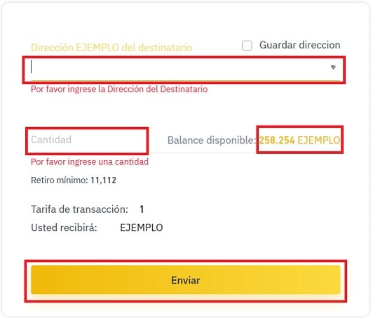 Dirección enviar Criptomoneda BASIC ATTENTION TOKEN (BAT)