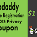GODADDY PRIVATE | WHOIS SECURITY PRIVACY REGISTRATION COUPON FOR ONLY $1.00/YR