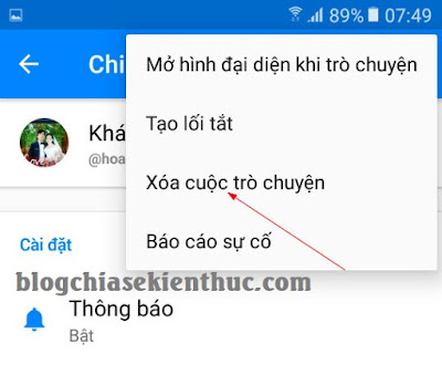 Hướng dẫn xoá tin nhắn trên Facebook Messenger và Facebook chát