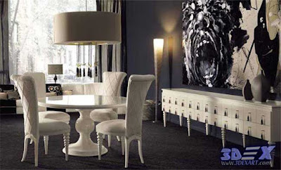 art deco style, art deco interior design, art deco dining room furniture and painting