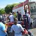 Colisão envolvendo carro e moto deixa uma pessoa ferida no centro de Cajazeiras
