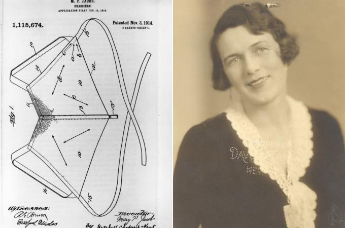 ac882e09b Em 1914 Mary Jacob patenteava o sutiã como o conhecemos hoje. Mary teve a  ideia de criá-lo após revoltar-se com o desconfortável uso do espartilho.