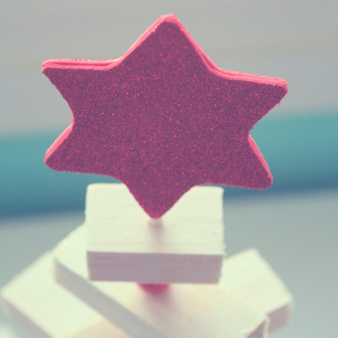 Calendario de adviento de madera Estrella
