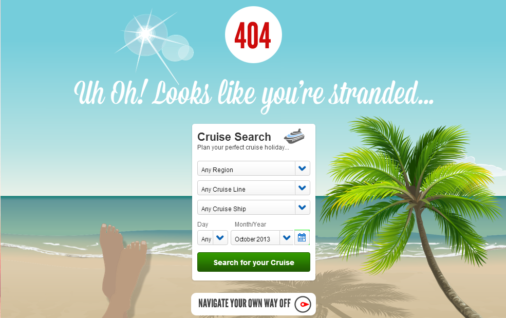 Virgin Cruises, 404 page