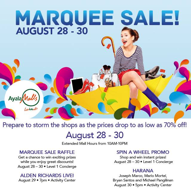 Manila Shopper Marquee Mall 3 Day Sale Aug 2015