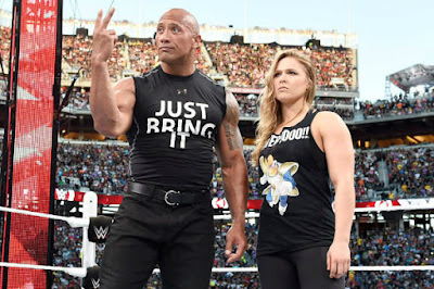 The Rock & Ronda Rousey Feature Main Event WrestleMania 32