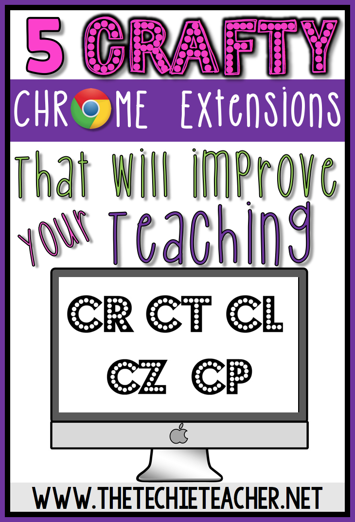 5 Crafty Chrome Extensions That Will Improve Your Teaching. Use on laptops or Chromebooks: Technology in the Classroom