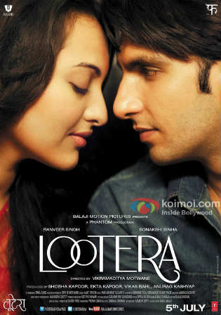 Lootera 2013 DVDRip 400MB Full Hindi Movie Download 480p Watch Online Free bolly4u