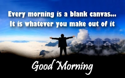 man over the hill with good morning quote whatsapp