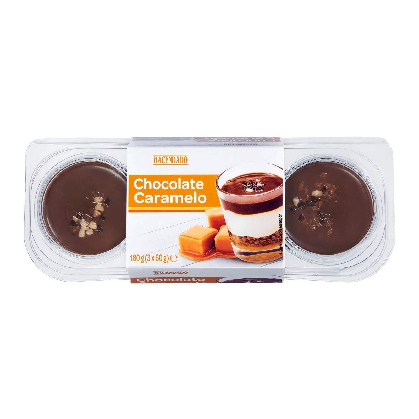 Postre chocolate caramelo Hacendado