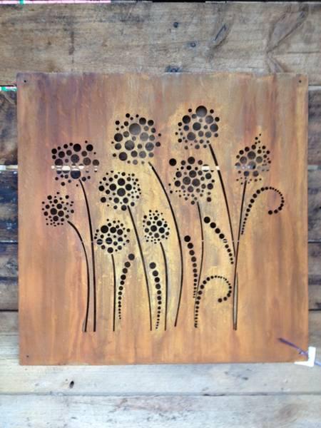 Outdoor decorative metal panels