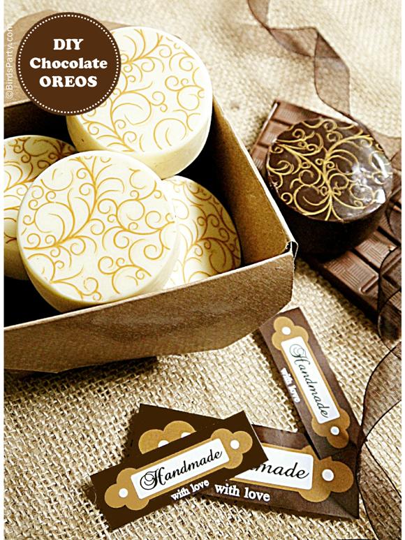 How to Make Chocolate Covered Oreos + FREE Printables - BirdsParty.com