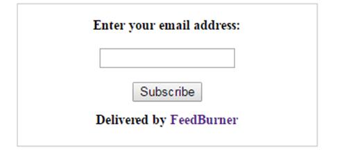 Form email berlangganan dari Feedburner