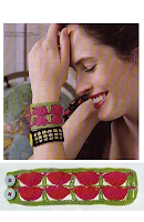 Pulsera de Crochet Medias Lunas