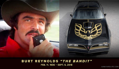 Black and gold 1977 Trans Am was used as a promotional car for Smokey and the Bandit.