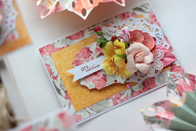 Celebration Time Party Decor by Elena Olinevich using BoBunny Aryia's Garden Collection