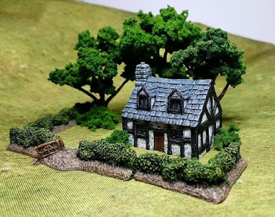 Half Timbered Cottage with Dormer from Battlescale Wargame Buildings