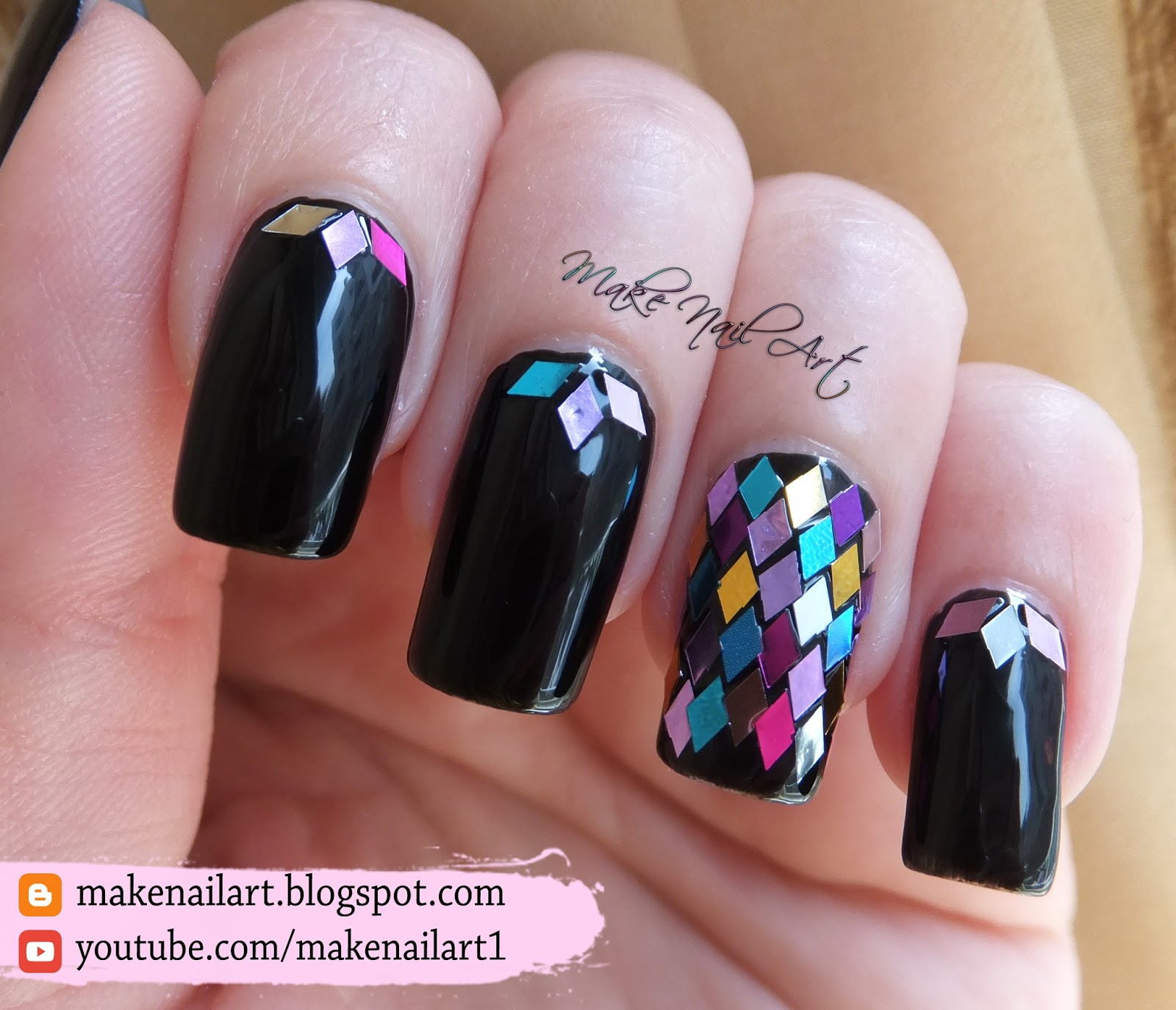 Nail glitter shapes ~ Beautify themselves with sweet nails