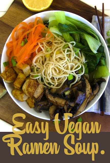 Healthy Easy Vegan Ramen Soup