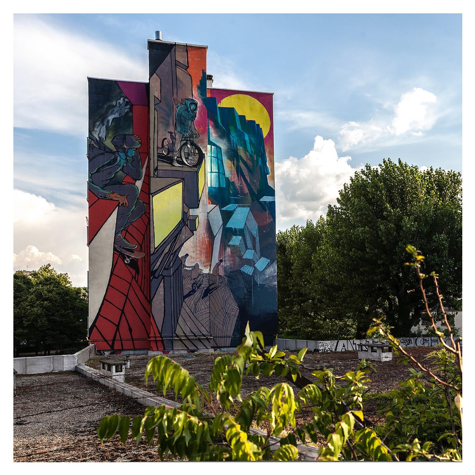 Artist Will Baras mural in Grenoble France