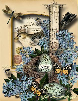 NEST EGG- ©Jill Marcott-McCall for The Graphics Fairy Premium Membership
