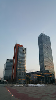 Tall buildings in the Donaustadt area of Vienna
