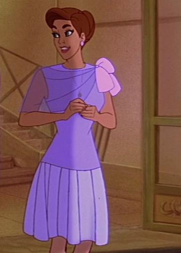 Anastasia filme, figurino vestido rosa Paris
