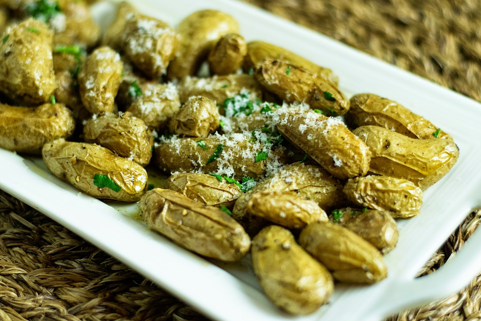 Roasted Truffle and Parmesan Fingerling Potatoes