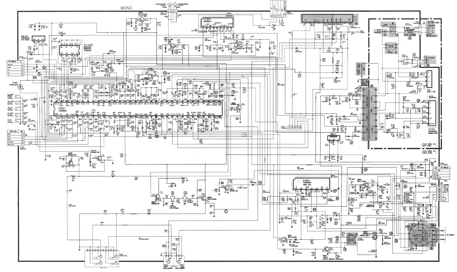 Crt Tv Schematic Diagram. crt tv circuit board diagram