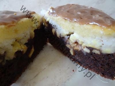 Ciasto z polewą chałwową