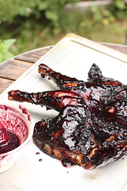 poulet sauce myrtilles