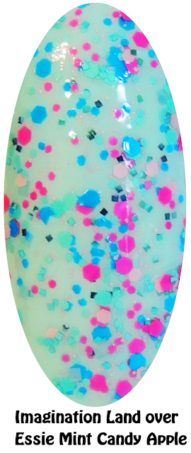 Imagination Land Over Essie Mint Candy Apple- Nails