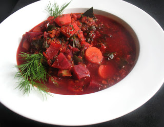 Hearty Vegetarian Beet Borscht