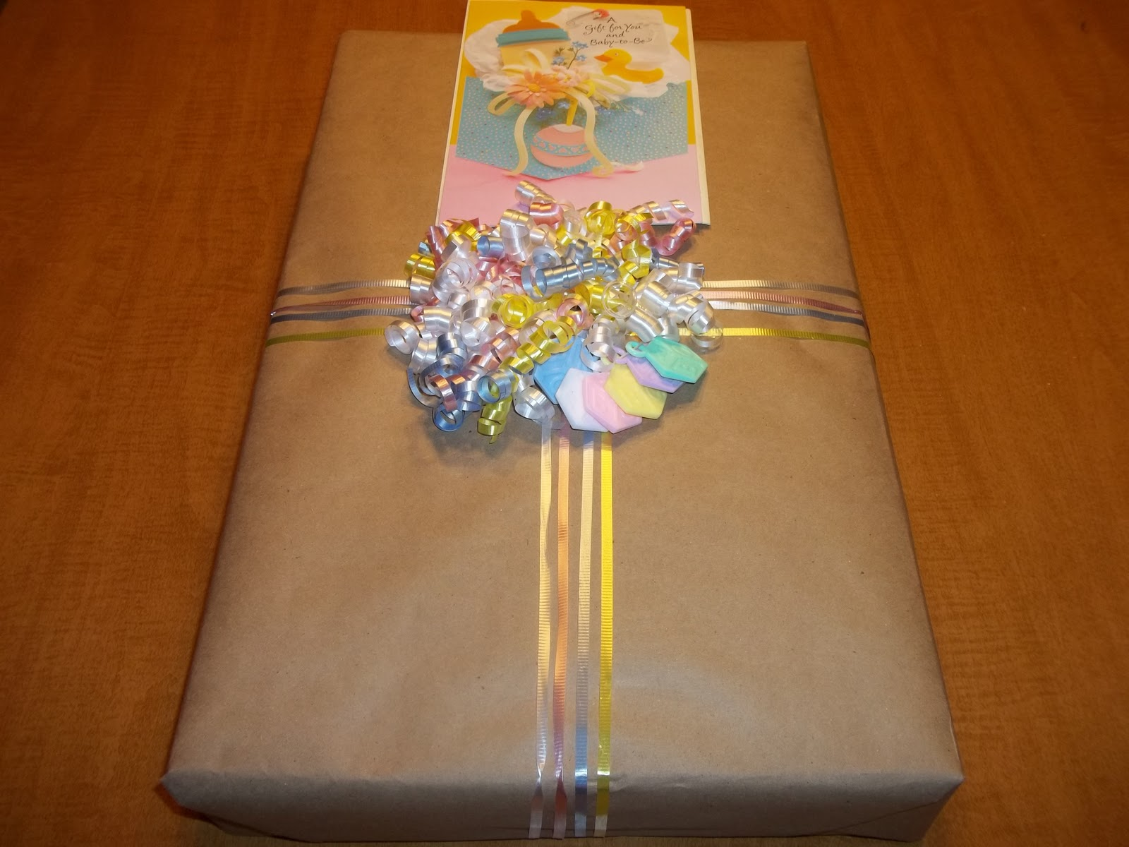 Baby shower wrapping ideas