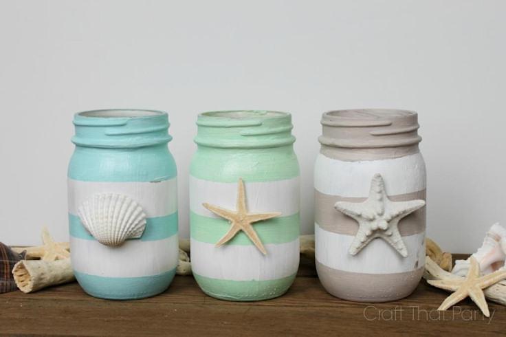 beach decor mason jars
